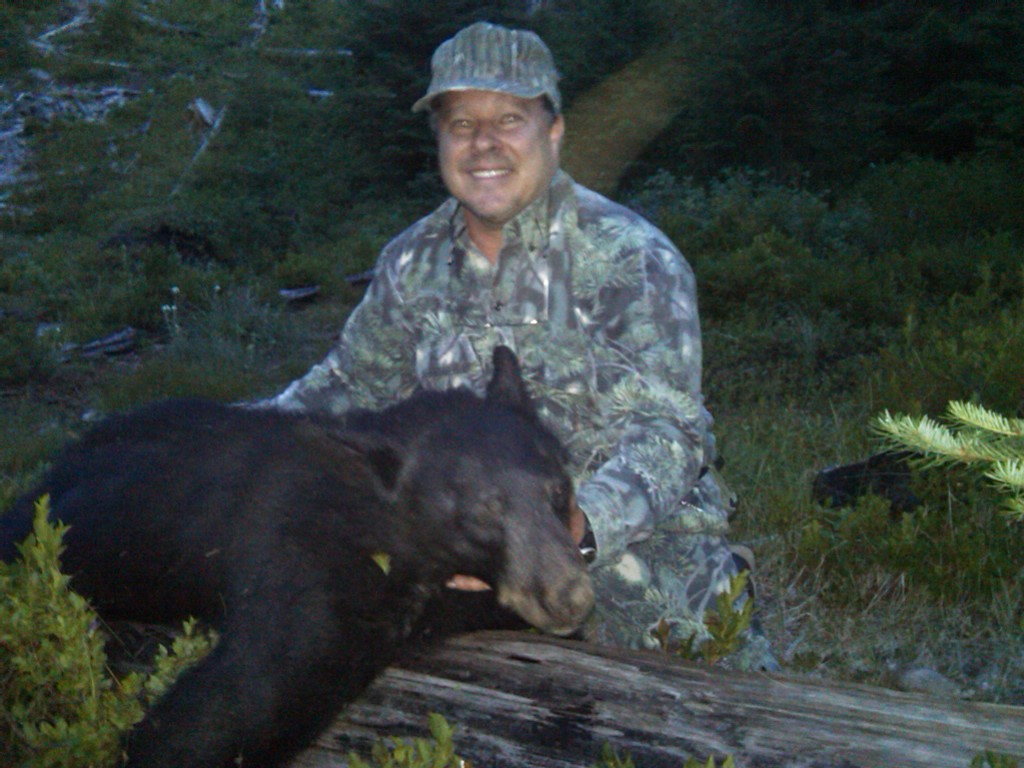 Jim with his bruin: bear camp 2010.